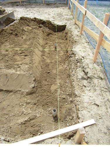 基礎の掘削
