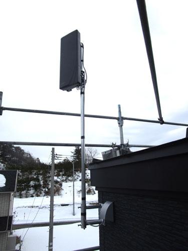 外のテレビアンテナ